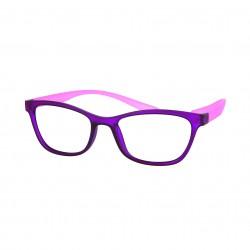 Lunettes de lecture avec clips solaires violet et rose
