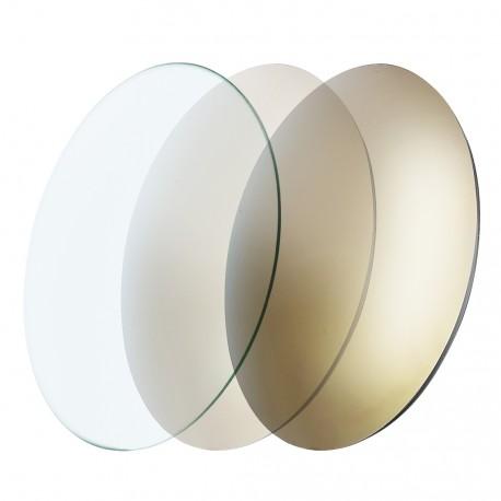Verres CR39 photochromiques miroités gold