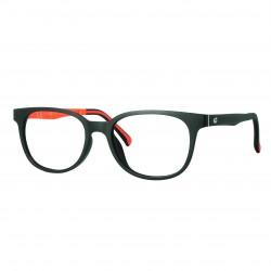 Monture Ultem mat noir/orange avec clip solaire polarisé