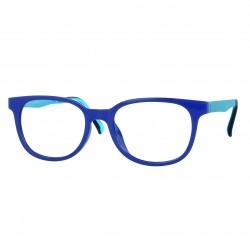 Monture Ultem mat bleu avec clip solaire polarisé