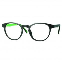 Monture Ultem mat noir/vert avec clip solaire polarisé
