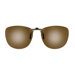 Clips solaires pantos monture acétate taille 54 brun