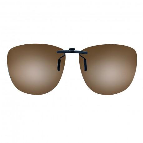Clips solaires pantos monture acétate taille 56 brun