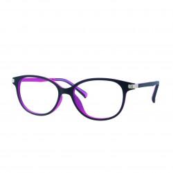 Monture femme violet/fuchsia avec clip solaire polarisé