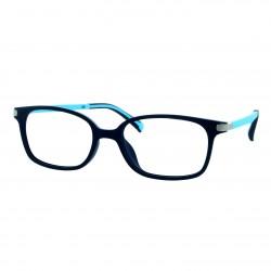 Monture enfant bleu floncé/bleu clair mat avec 2 clips solaires