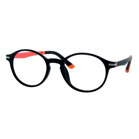 Nouveau Monture enfant noir orange mat avec 2 clips solaires 45787991fb7f