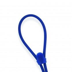 Cordon silicone ajustable bleu medium