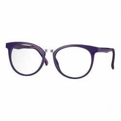 Monture violette avec clip solaire polarisé