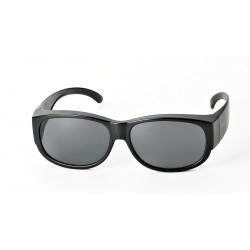 Surlunettes de protection 133mm x 44mm ( noir-verres gris)