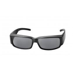 Surlunettes de protection 130mm x 37mm (noir - verres gris)