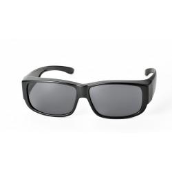 Surlunettes de protection 144mm x 42mm (noir - verres gris)